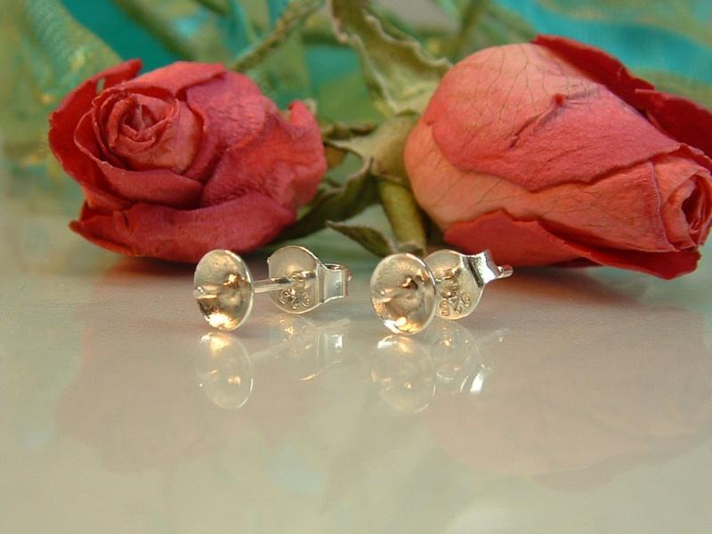 Ohrstecker mit Teller für Perlen