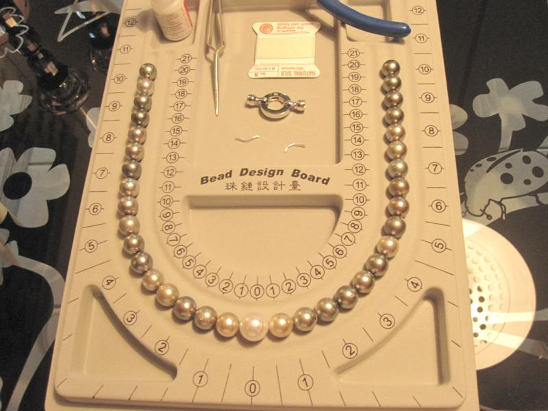 Perlenkette knüpfen Schmuckmueller Onlineshop