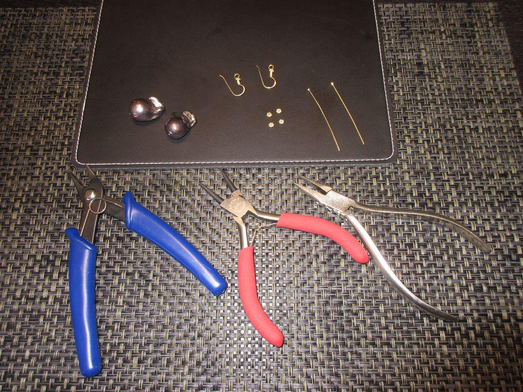 Perlen Ohrschmuck fertigen
