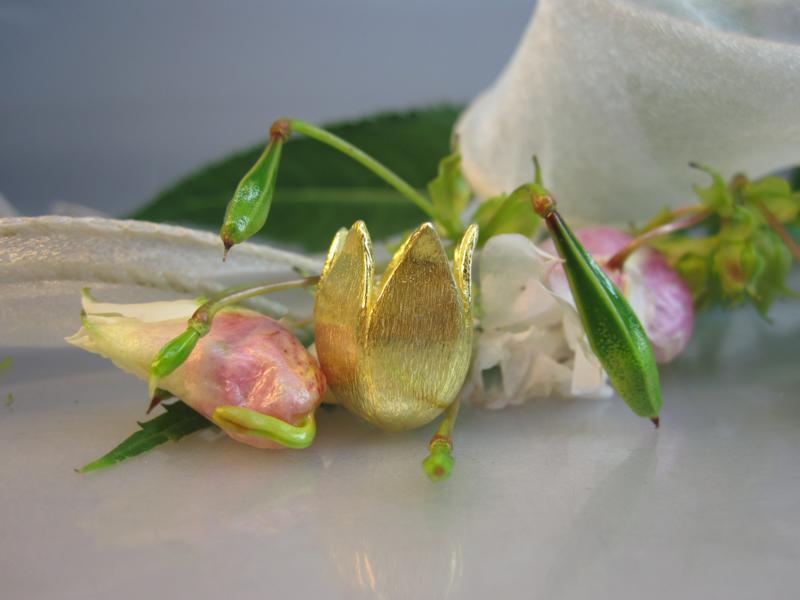 Blume Echtsilber vergoldet