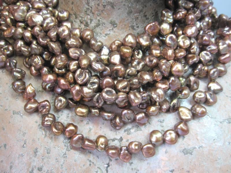 Perlen Kette Keshiperle