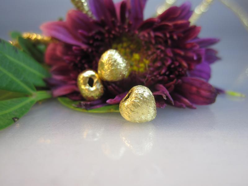 Silber Herz vergoldet