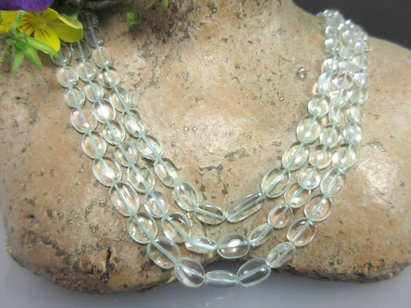Aquamarinsteine für Halskette