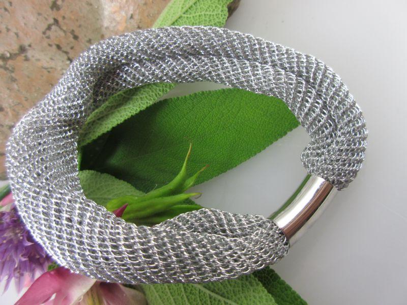 Armband Silber Gewebe