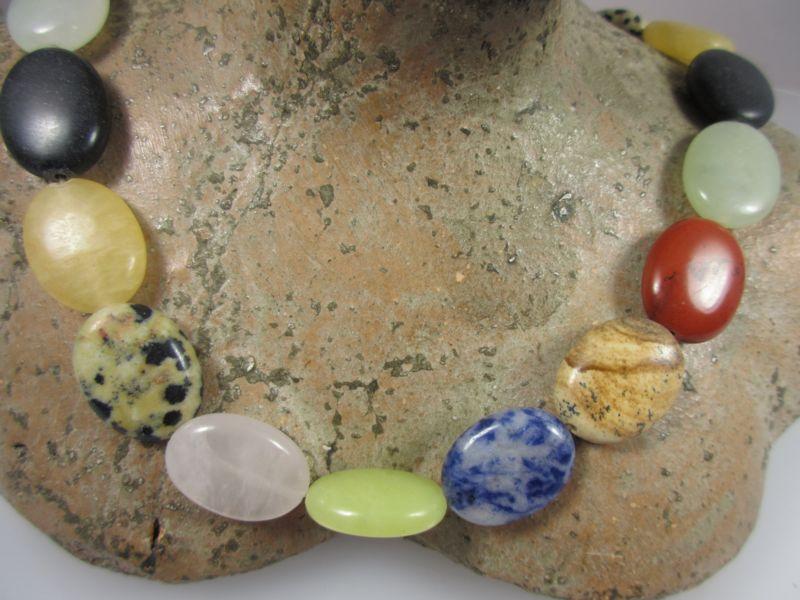 Edelsteinelemente für Kette
