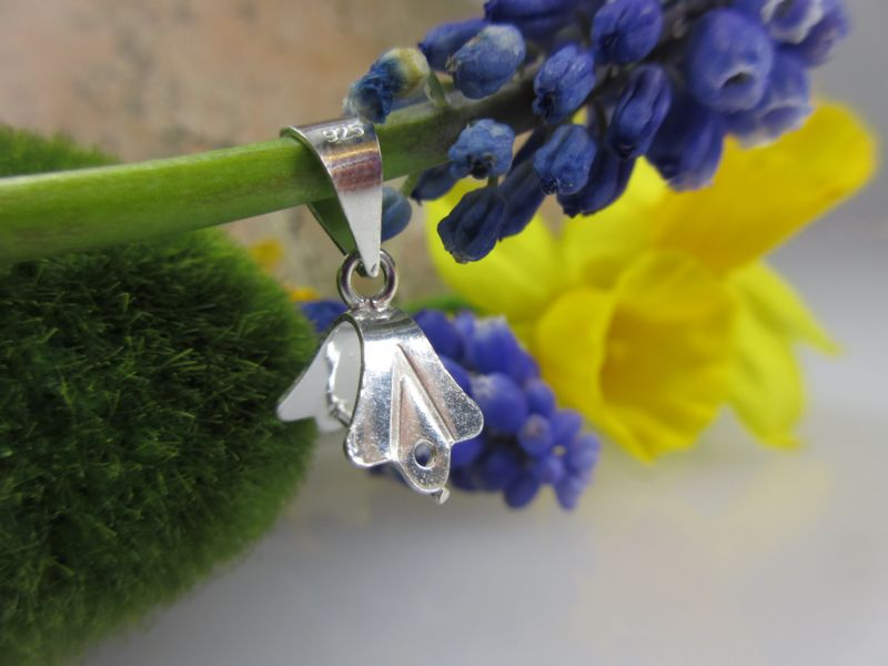 Steinhalter aus Silber