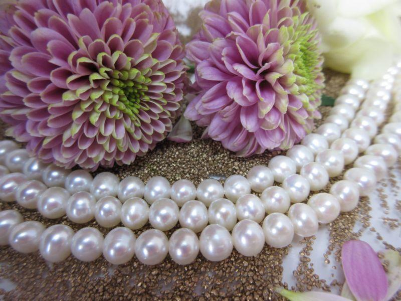 Perlenkette weiß 6mm