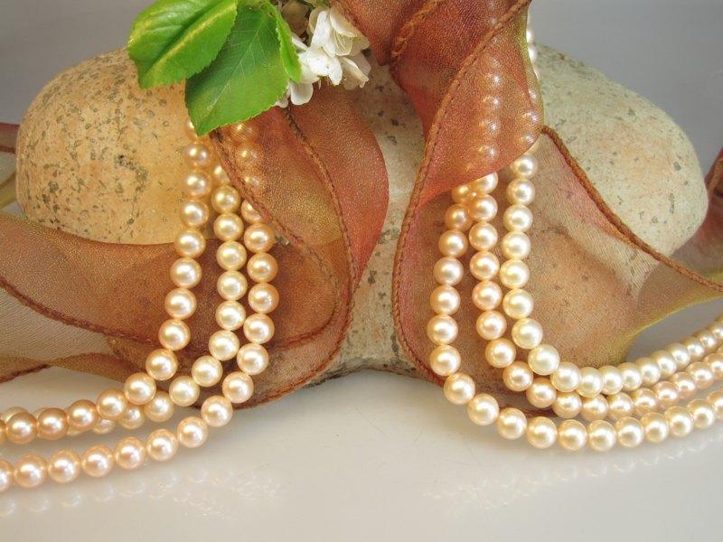 Perlen rosa Zuchtperlen