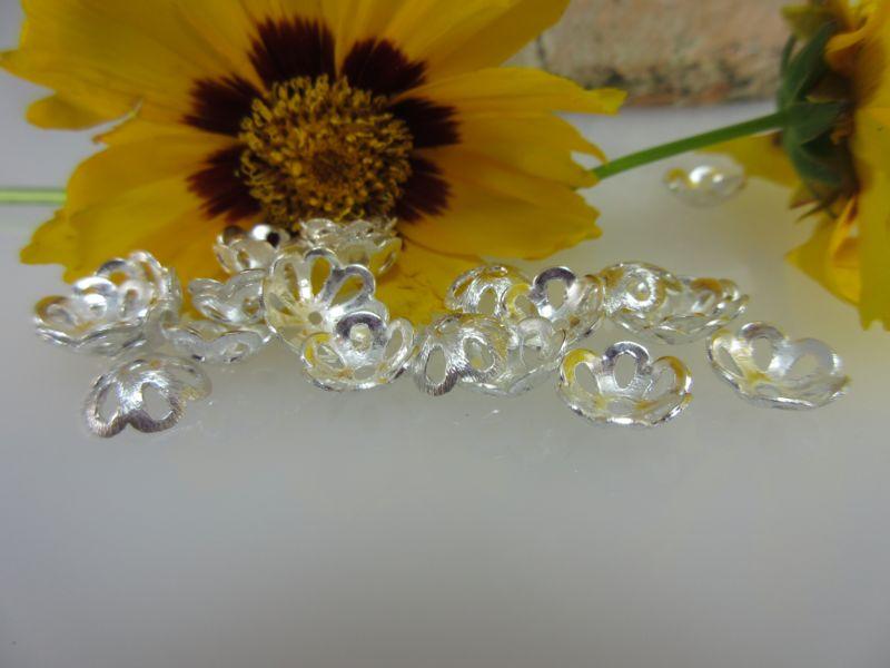 Perlenkappen Silber 10mm
