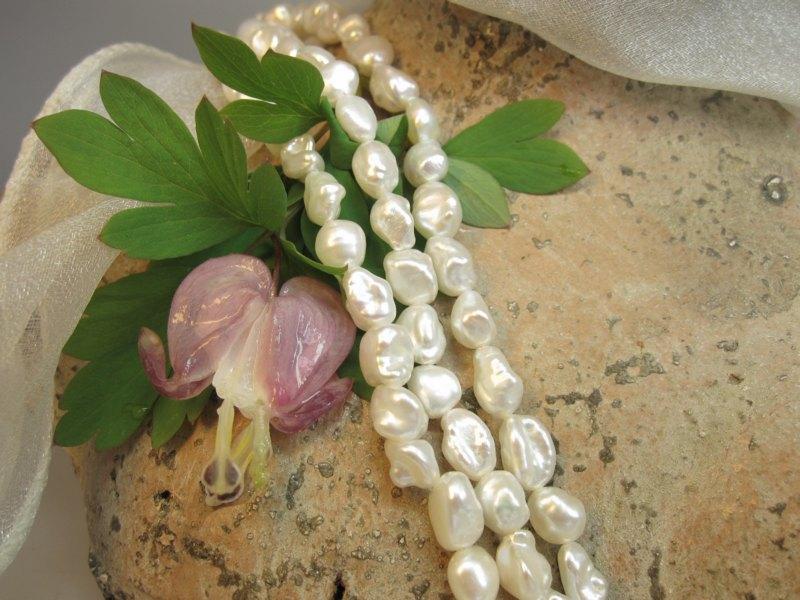 Perlencollier Keshiperlen