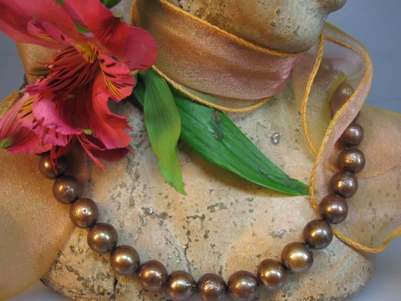 Zuchtperlenketten Perlen