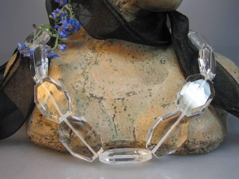 Bergkristallkette transparent