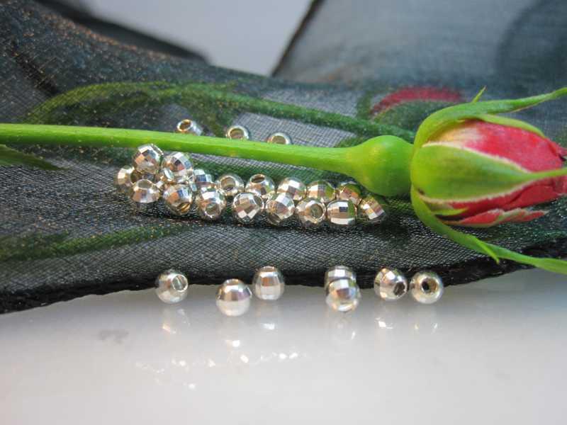 Silber Perlen Mittelteile