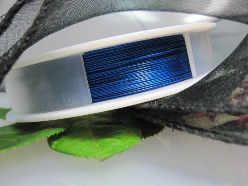 Perlen fädeln Stahlschnur blau