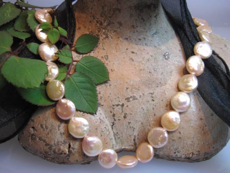 Barockperlen Perlenstrang rosa