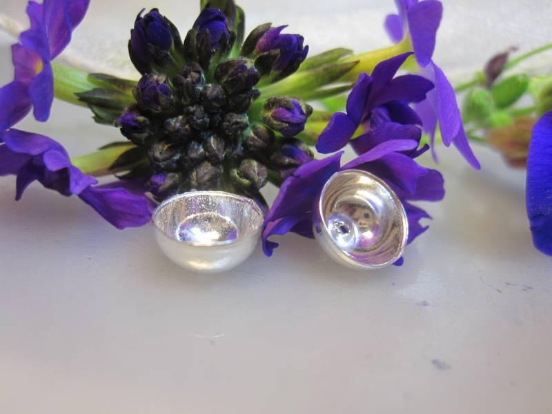 Dekoteile Halskette silbern Perlen