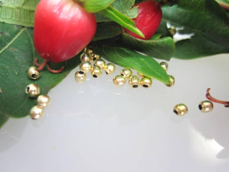 Zubehör Goldschmiede Kugeln vergoldet