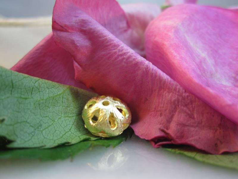 Blüte silber vergoldet