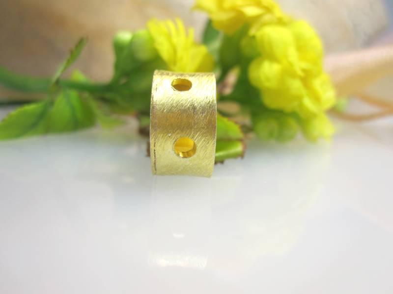 Schnecke Silber vergoldet