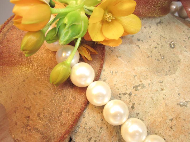 Muschelkern Perlenkette