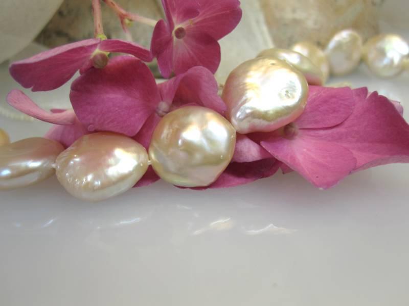 Perlen Scheiben Süßwasser