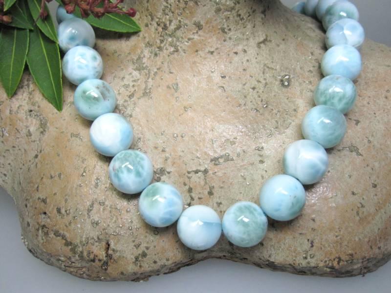 Larimaredelstein einzelne Perle