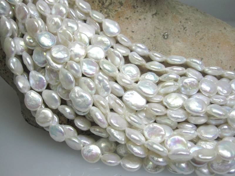 Perlenkette barock Scheiben