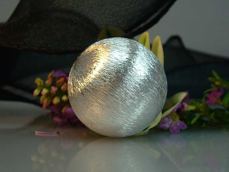 Kugel Silber groß