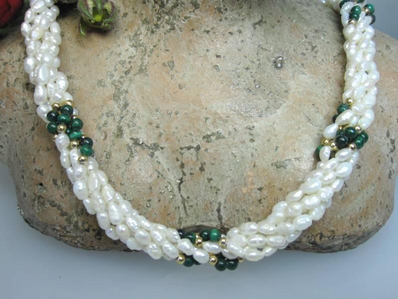 Perlenkette Malachit