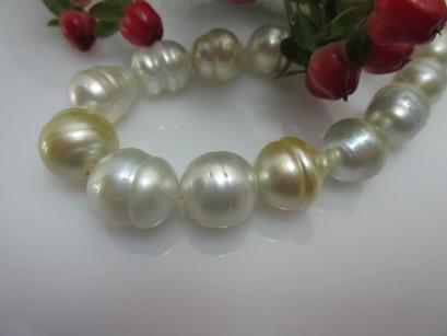 Collier barocke goldene Südseeperlen Nr. 9
