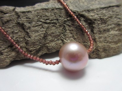 Granatkette Perle