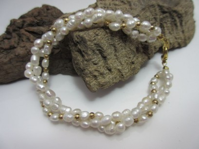 Perlenarmband 3-reihig