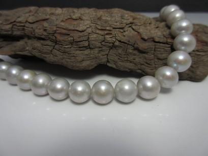 Perlenstrang silber
