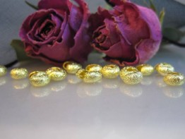 DZ137 --20 diamantierte Kaschierperlen goldgelb 4mm