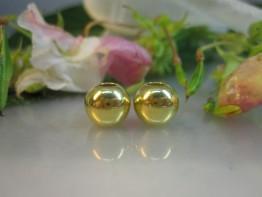 DZ64 -- 2 Stück Kaschierperlen 925 Silber vergoldet 7mm