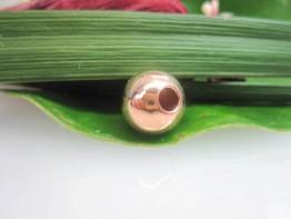 ZS194 -- Eine perfekte rosegoldfarbene 925er Kugel 12mm