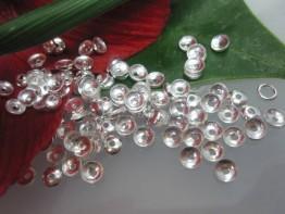 ZS183 -- 10 Zwischenelemente 925er Silber Perlkappen 4mm