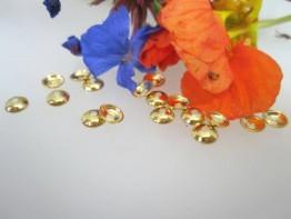 ZS37 -- 10 Zwischenelemente 925er vergold. Perlkappen 4mm