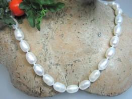 Perlen preiswert - Zuchtperlenkette mit Toplüster weiß