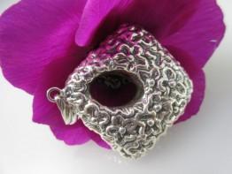 Riesiger Anhänger aus 925er Silber mit Blütenmotiv 17 gramm