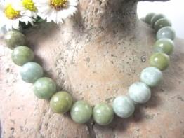 Garantiert echte Burma Jade, echter Jadeit 12mm groß !!