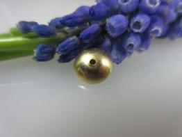 GZ46 -- 1 Echtgoldzwischenelement 585er Gelbgold Linse 9mm