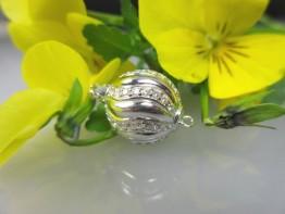 KS65 - Moderne Schnepper Schließe aus 925er Silber/ rhodiniert