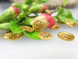 GZ7 -- 1 Echtgoldzwischenelement 750er Gelbgold Perlkappe