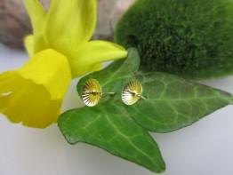 GZ40 -- 2 Stück Brisuren aus 585er Gelbgold für Perlen