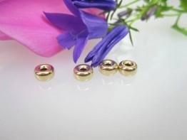 GZ60 -- 1 Echtgoldzwischenelement 585er Gelbgold Rondelle 5mm