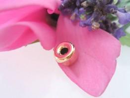 GZ57 -- 1 Echtgoldzwischenelement 585er Gelbgold Rondelle 7mm