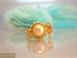 K29 --  Wunderschöne verg. 3 Strang Schließe mit Perle
