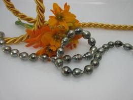 Perlenkette Tahitiperlen Barockperlenstrang 9-11mm Nr.17