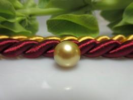 Goldene Südseeperle,ungebohrt,1a Farbe, 11,6mm,ganz rund, Nr.2